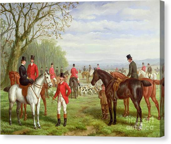 The Sky Canvas Print - The Meet by Edward Benjamin Herberte