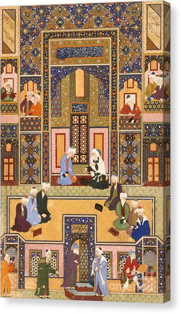 Islam Canvas Print - The Meeting Of The Theologians by Abd Allah Musawwir