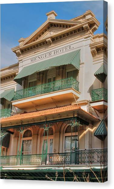 The Menger Hotel In Hdr Canvas Print