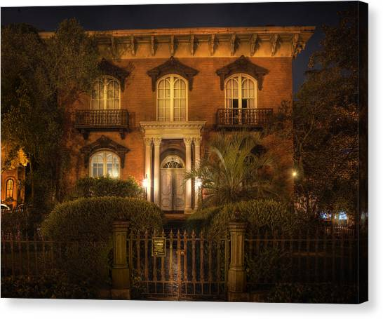 The Haunted House Canvas Print - The Mercer House by Mark Andrew Thomas