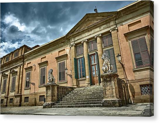 The Meridian Palace In The Pitti Palace Canvas Print