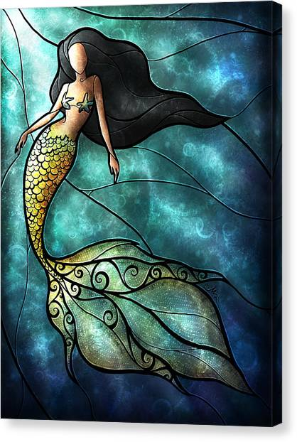Starfish Canvas Print - The Mermaid by Mandie Manzano