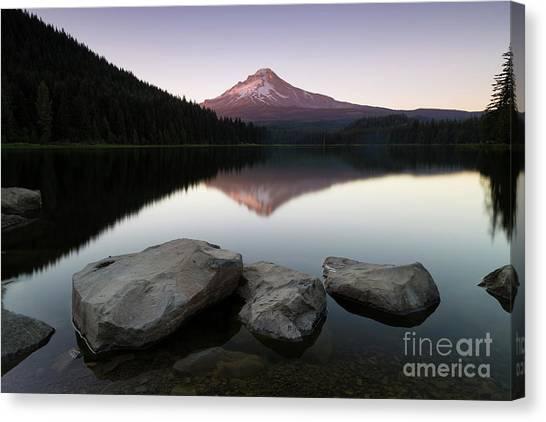 Lake Sunsets Canvas Print - The Mesmerizing View  by Masako Metz