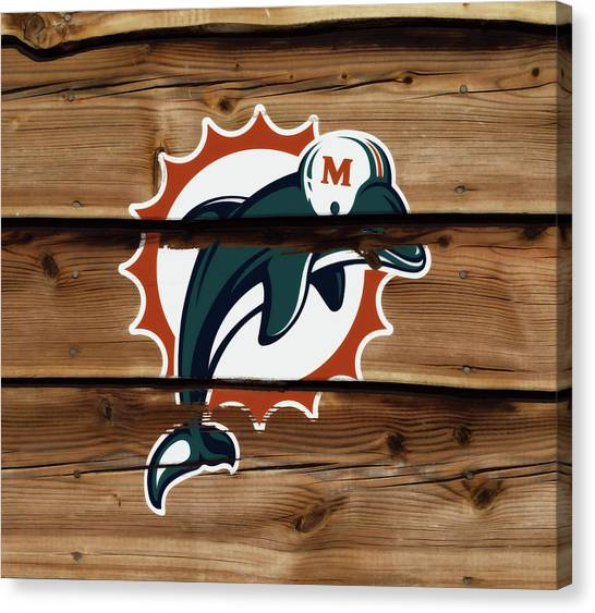 Dan Marino Canvas Print - The Miami Dolphins 1w by Brian Reaves
