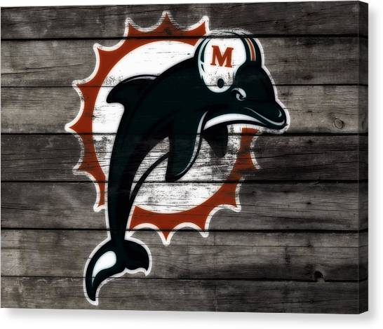 Dan Marino Canvas Print - The Miami Dolphins 3b      by Brian Reaves