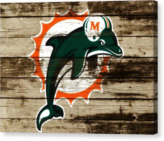 Dan Marino Canvas Print - The Miami Dolphins C4      by Brian Reaves