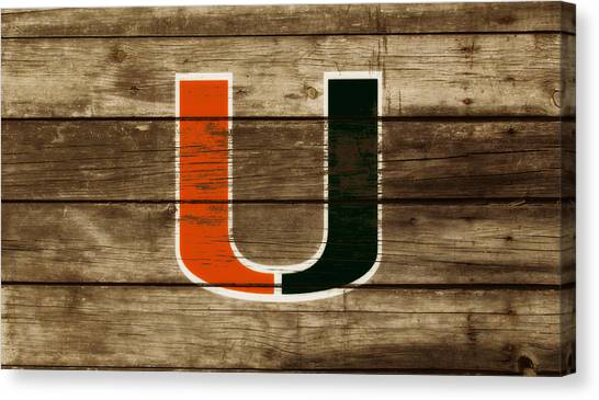 University Of Miami Canvas Print - The Miami Hurricanes 3a       by Brian Reaves
