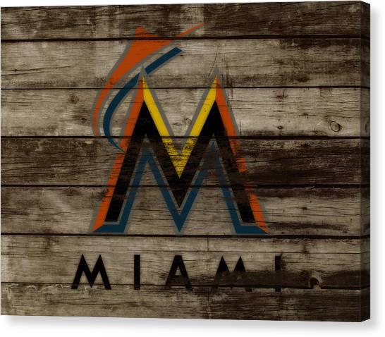 Arizona Diamondbacks Canvas Print - The Miami Marlins 1b by Brian Reaves