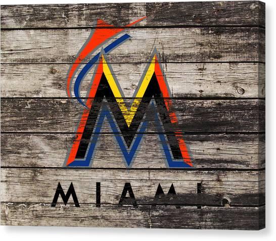 Arizona Diamondbacks Canvas Print - The Miami Marlins 1f by Brian Reaves