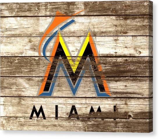 Arizona Diamondbacks Canvas Print - The Miami Marlins by Brian Reaves