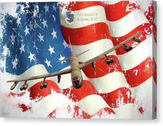 Linebackers Canvas Print - The Mighty B-52 by Peter Chilelli