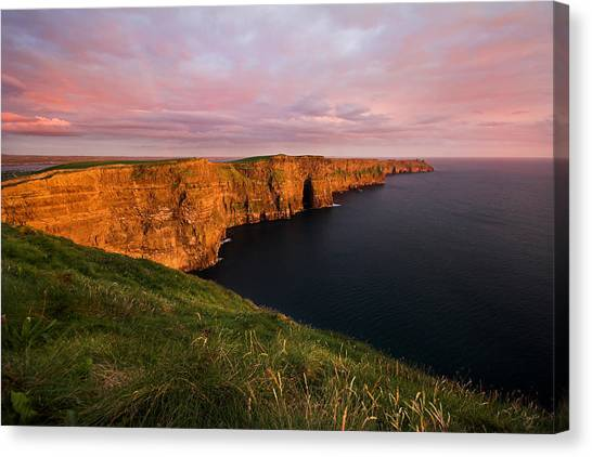 The Mighty Cliffs Of Moher In Ireland Canvas Print