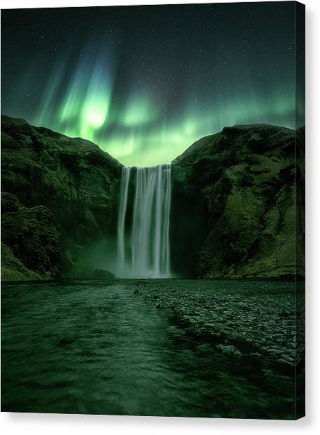 Waterfalls Canvas Print - The Mighty Skogafoss by Tor-Ivar Naess