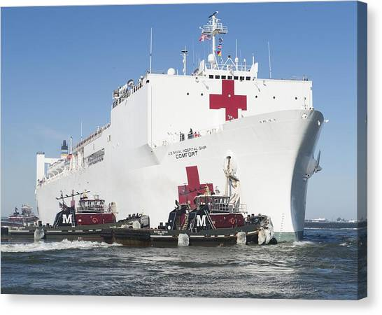 Nato Canvas Print - The Military Sealift Command Hospital Ship Usns Comfort by Celestial Images
