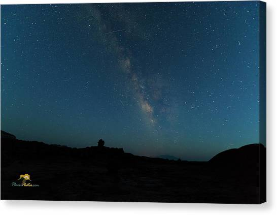 Canvas Print featuring the photograph The Milky Way At Goblin Valley by Jim Thompson