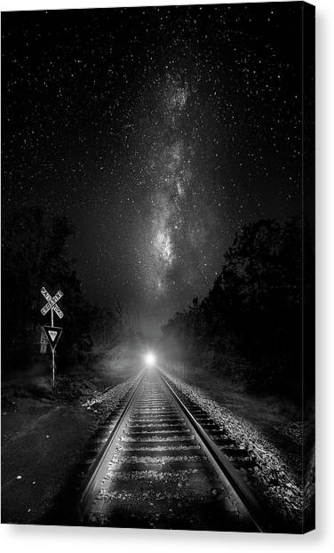 Thomas The Train Canvas Print - The Milky Way Express by Mark Andrew Thomas