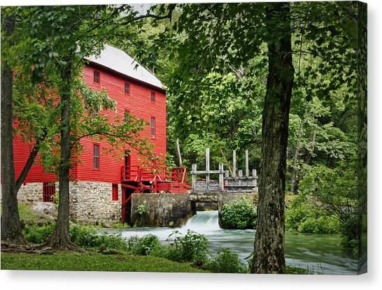 The Mill At Alley Spring Canvas Print