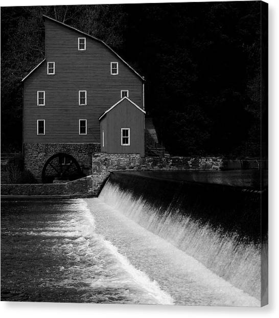 The Mill - Black And White Canvas Print