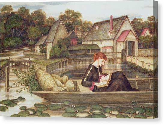 John Boats Canvas Print - The Mill by John Roddam Spencer Stanhope