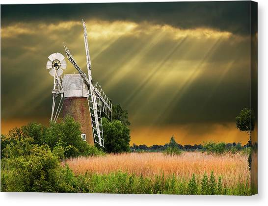 The Mill On The Marsh Canvas Print