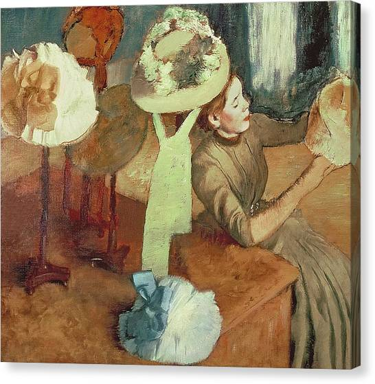 Designing Canvas Print - The Millinery Shop by Edgar Degas