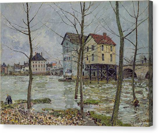 Mills Canvas Print - The Mills At Moret Sur Loing by Alfred Sisley