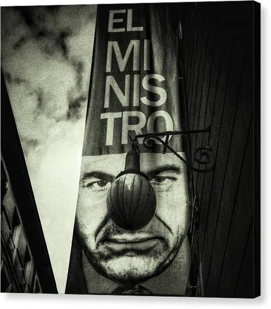Madrid Canvas Print - The Minister #blackandwhite by Rafa Rivas