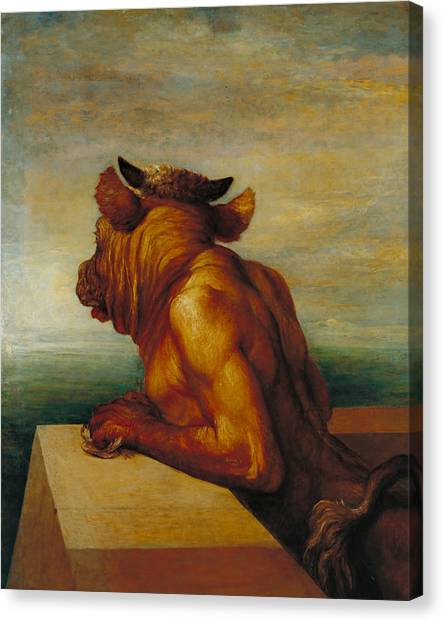 Minotaur Canvas Print - The Minotaur by George Frederic Watts