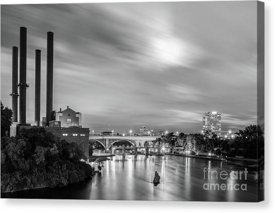 The Mississippi River Night Scene Canvas Print