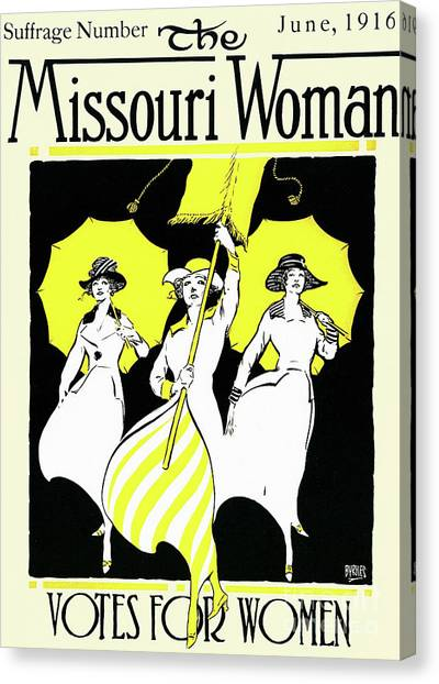 Womens Rights Canvas Print - The Missouri Woman From June 1916, The Suffrage Issue by American School