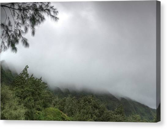 Canvas Print featuring the photograph The Mist On The Mountain by Break The Silhouette