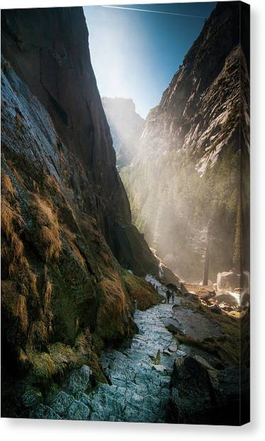 The Mist Trail Canvas Print
