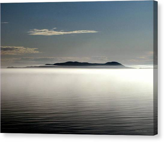The Mists Of Pic Island Canvas Print by Laura Wergin Comeau