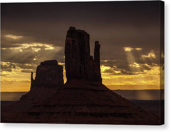 The Mittens Sunrise Canvas Print