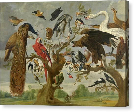 Meadowlarks Canvas Print - The Mockery Of The Owl by Jan van Kessel