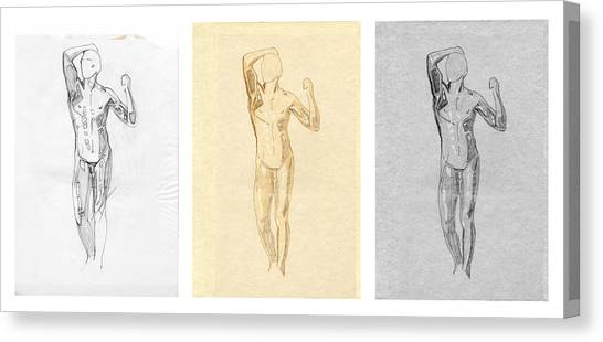 The Modern Age - Triptych - Homage Rodin  Canvas Print
