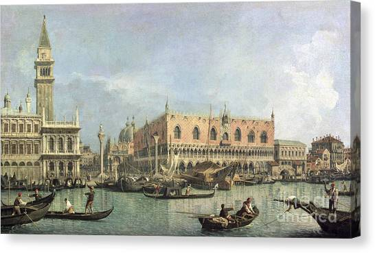 San Marco Canvas Print - The Molo And The Piazzetta San Marco by Canaletto