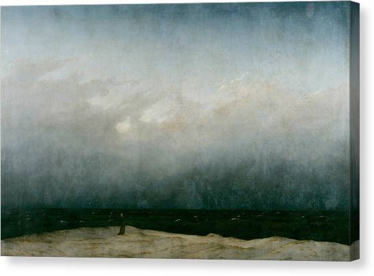 Monk By The Sea  Canvas Print