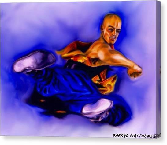 The Monk  Kick. Canvas Print