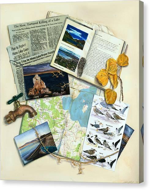 Canvas Print - The Mono Lake Story Trompe L'oeil by Logan Parsons