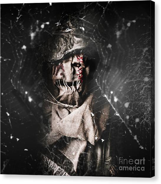 Spider Web Canvas Print - The Monster Scarecrow by Jorgo Photography - Wall Art Gallery