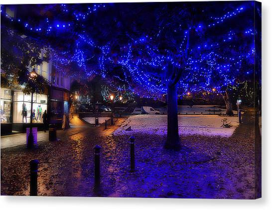 Pokemon Go Canvas Print - The Montpellier Hill Lights by Mark Hunter