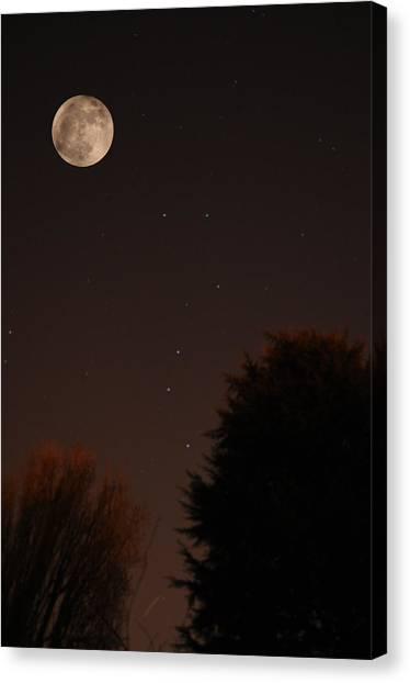 The Moon And Ursa Major Canvas Print