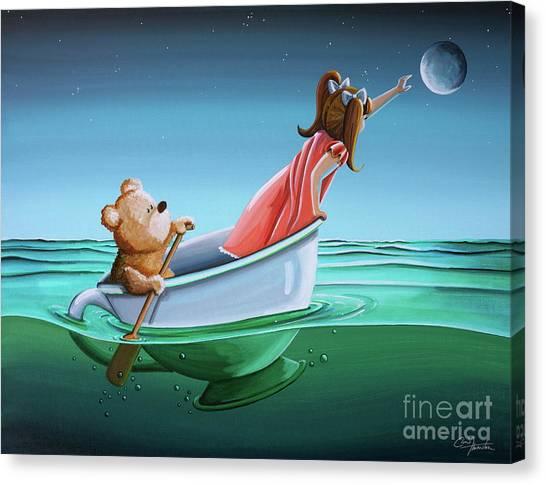 Teddy Bears Canvas Print - The Moon Bandits II by Cindy Thornton