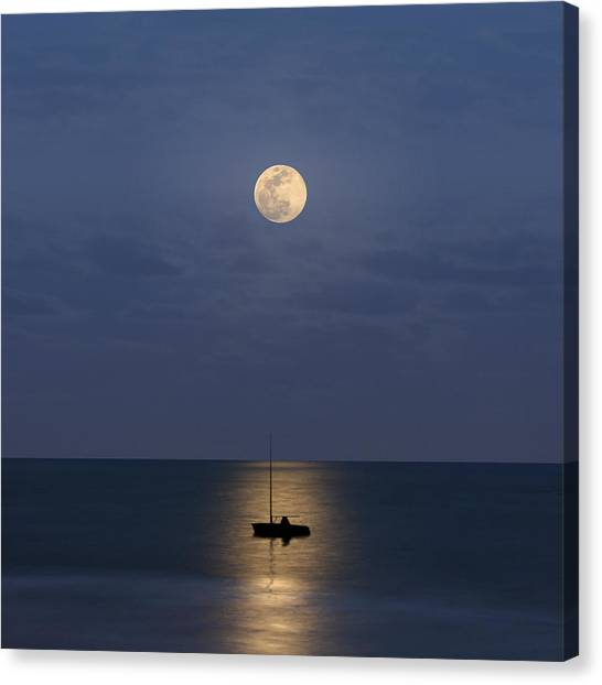 Puerto Canvas Print - The Moon Guide Us by Carlos Gotay