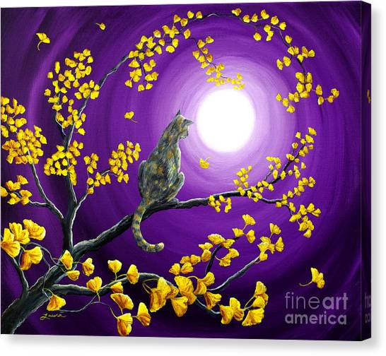Gingko Canvas Print - The Moon Shone Upon Me by Laura Iverson