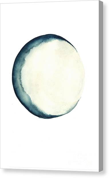 Moon Canvas Print - The Moon Watercolor Poster by Joanna Szmerdt