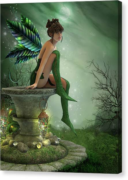 The Moonlight Fairy Canvas Print