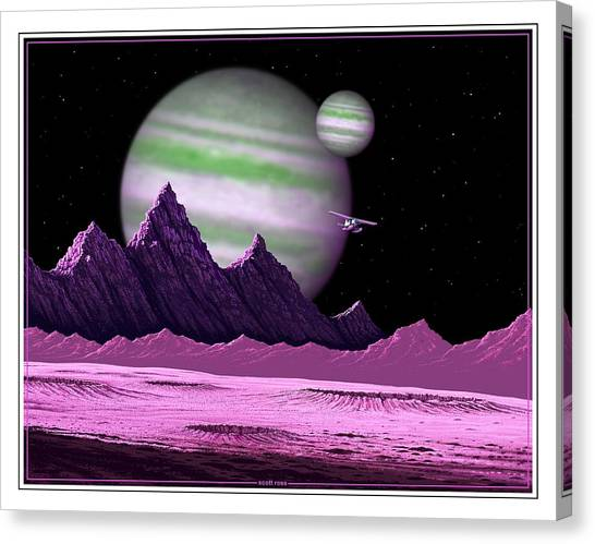 The Moons Of Meepzor Canvas Print