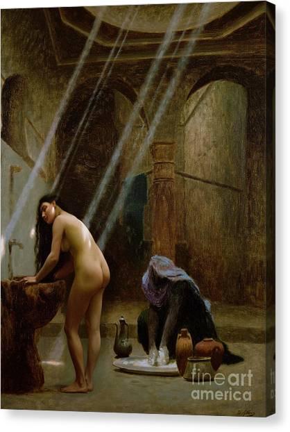 Moorish Canvas Print - The Moorish Bath by Jean Leon Gerome